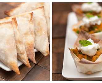 Easy Baked Chicken Samosas & Samosa Cups #ShareTheLight