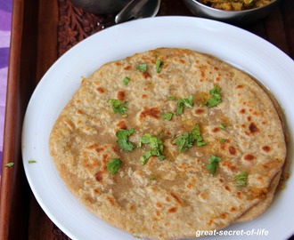 Gobi Paratha - Cauliflower Paratha - Cauliflower Chapati - Gobi stuffed chapati - Healthy Indian flat bread recipe