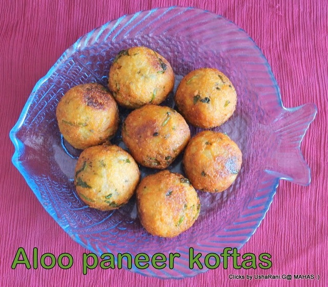 Malai koftas/How to make ricotta potato kofta/ step by step pictures/ Deep fried potato cheese balls in indian style