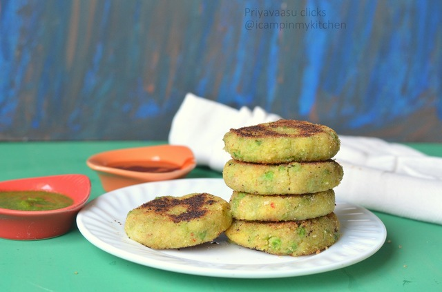 Aloo Tikki - Potato Snack - Potato & Peas Sliders