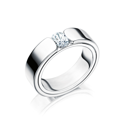 Vigselring 18k vitguld Beauty 0,50 ct - 50 - 50