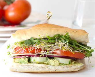 French Bread Roll Veggie Sandwich