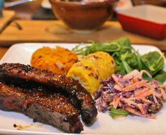 Sticky Honey & Whiskey Pork Ribs