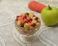 Diced green apple salad
