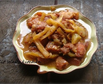 咸菜焖炸肉 ~ Fried Pork Simmer Salted Mustard