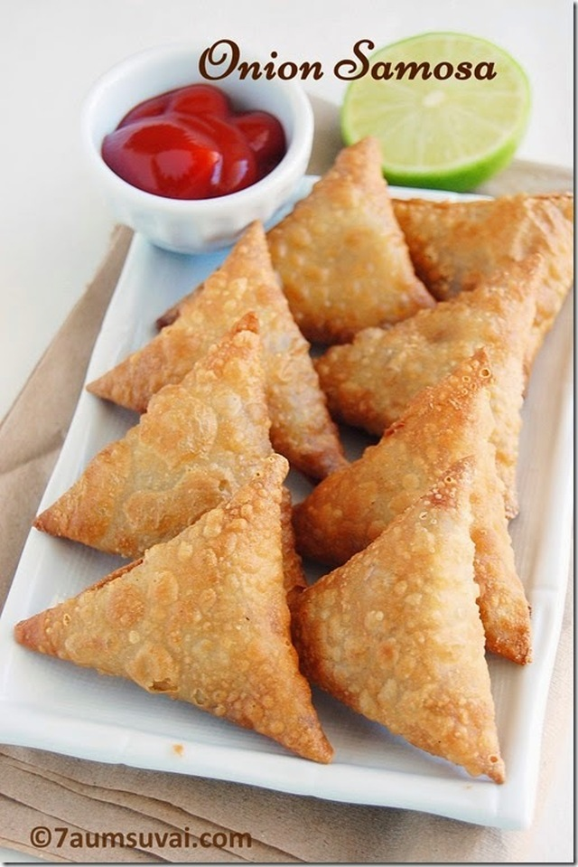 Onion samosa | South Indian onion samosa | Crispy onion samosa