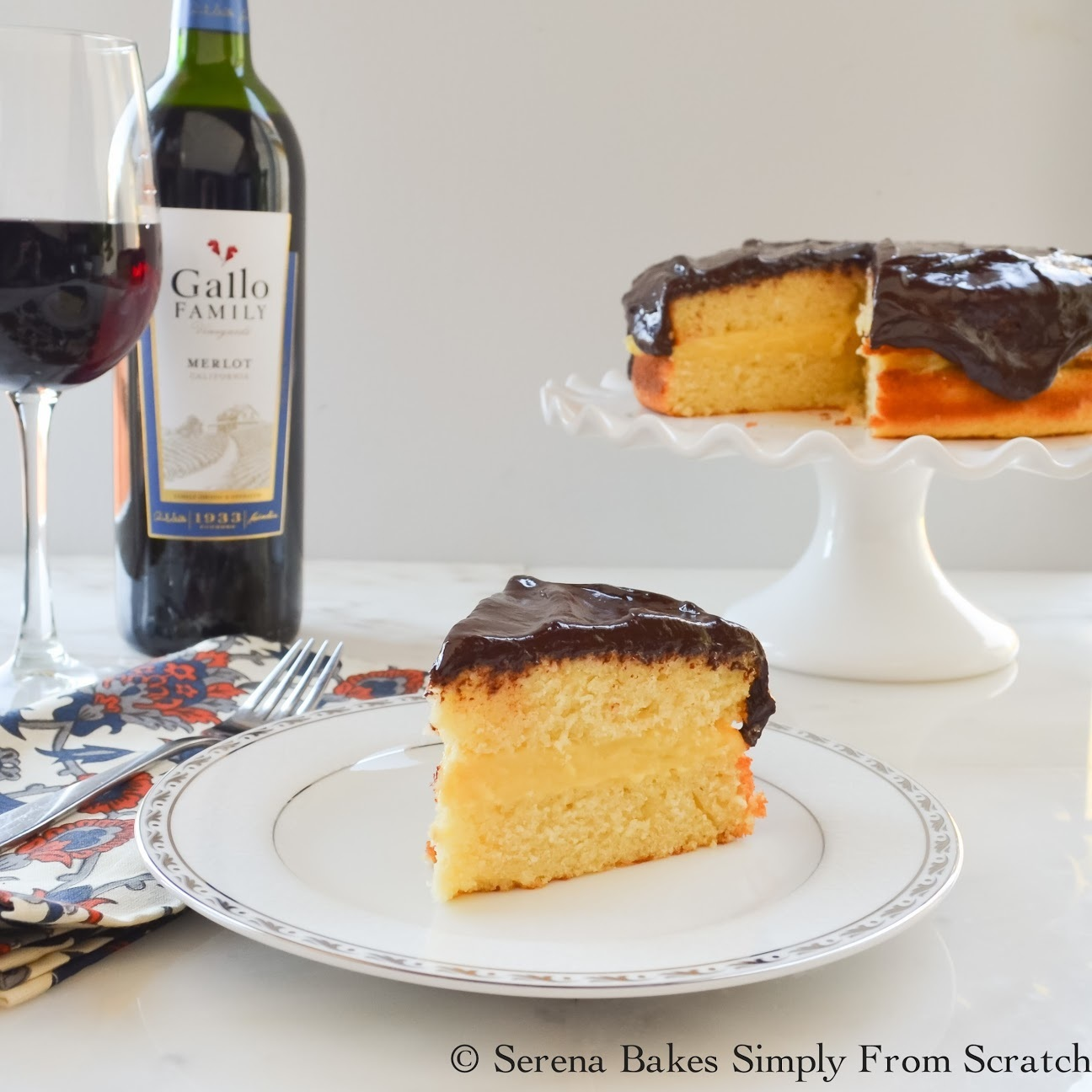 Boston Cream Pie #SundaySupper