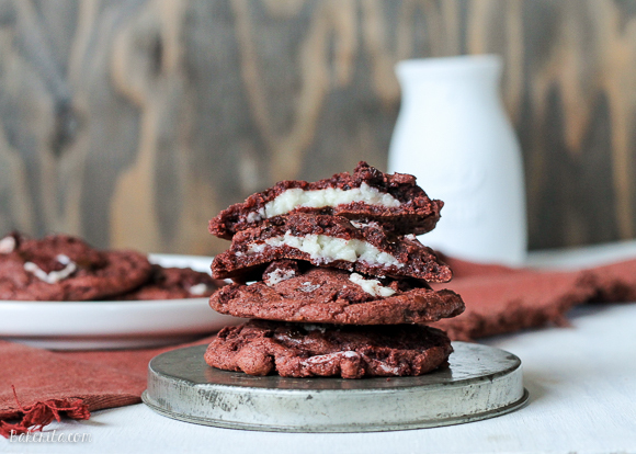 Red Velvet Oreo Cookies with Cream Cheese Filling