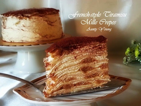 法式提拉米苏千层蛋糕(French-style Tiramisu Mille Crepes)