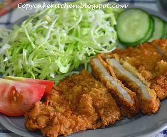 Tonkatsu/Japanese Deep-Fried Pork Cutlet 日式吉列猪扒