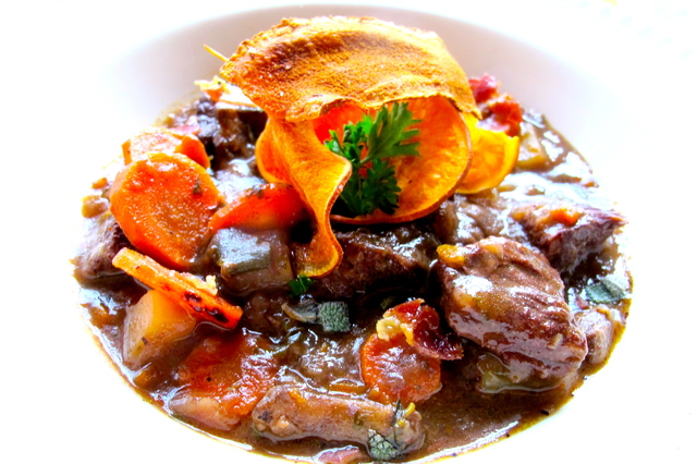 Beef Stew with Crisps and Mushroom