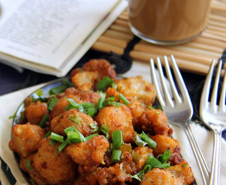 Gobi Manchurian Dry Recipe - Cauliflower Manchurian Dry Recipe with step by step pictures - Snack recipe