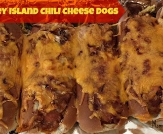 Baked Coney Island Chili Cheese Dogs #Recipe
