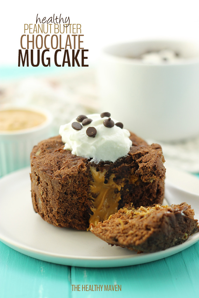 Healthy Peanut Butter Chocolate Mug Cake