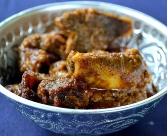Mutton Coconut Bhuna, or Bengali Mutton Coconut Fry
