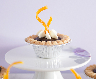 Chocolate Orange Tarts with Fresh Orange Cream