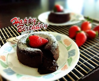 Molten Lava Chocolate Cake Tutorial Recipe (Fondant au Chocolate) 软心巧克力蛋糕 (中英食谱教程)