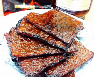 Homemade Cognac Bak Kwa - Chinese Pork Jerky (using Brandt Oven FP1067XS) 自制白兰地肉干 (中英食谱教程)