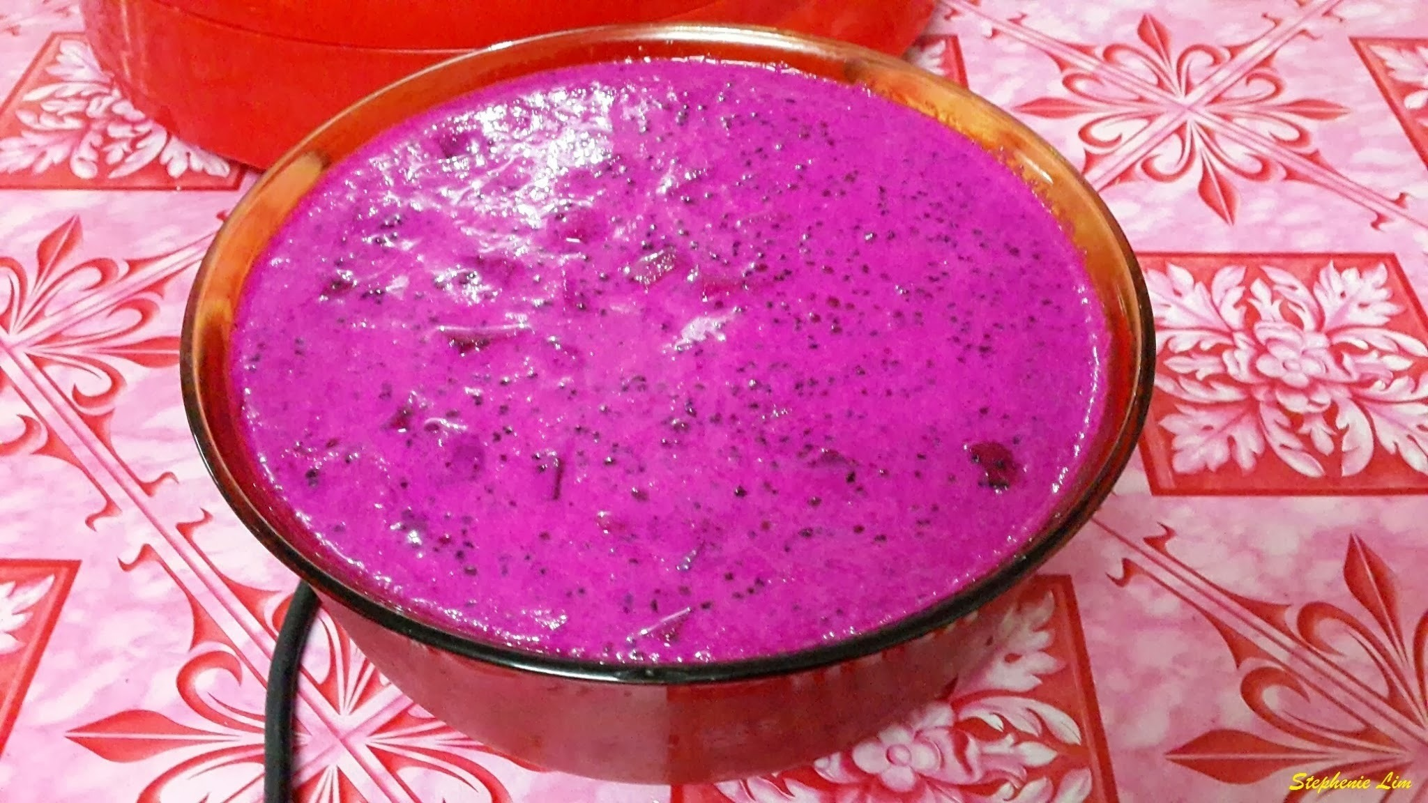 团圆火龙果西米露 (Dragon Fruit Sago Dessert)