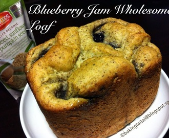 Blueberry Jam Wholesome Loaf (Breadmaker recipe)