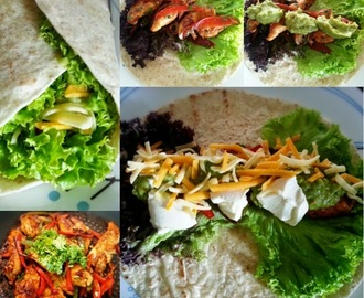 Mexican Chicken Wrap with Guacamole
