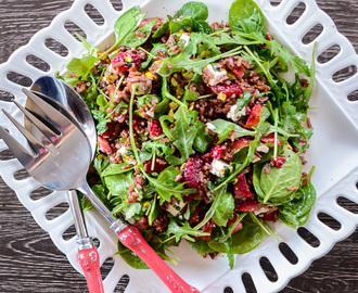 Strawberry Wild Rice Salad with Orange Poppy Seed Dressing