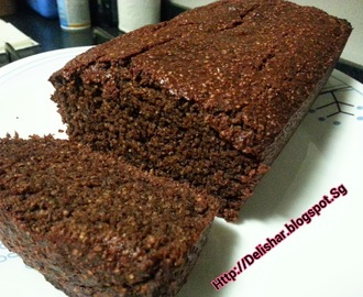 Chocolate Malt Avocado Banana Bread
