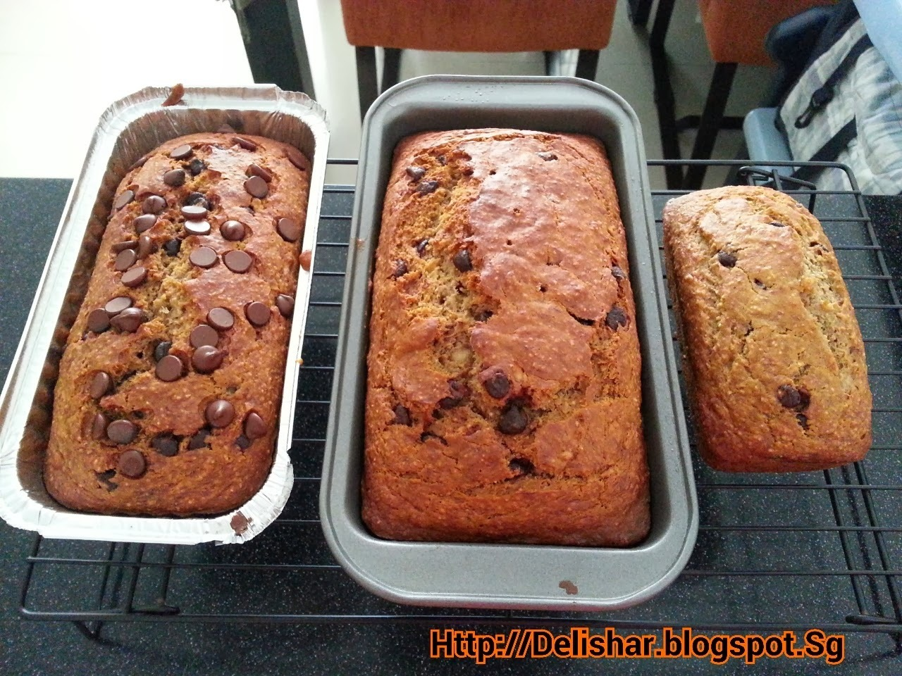 Healthy Wholemeal Banana Dark Chocolate Chips Bread