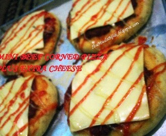 Resep Mini Beef Corned Pizza Plus Extra Cheese