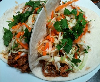 Slow-cooker Pulled Pork Tacos with Sweet Apple Slaw