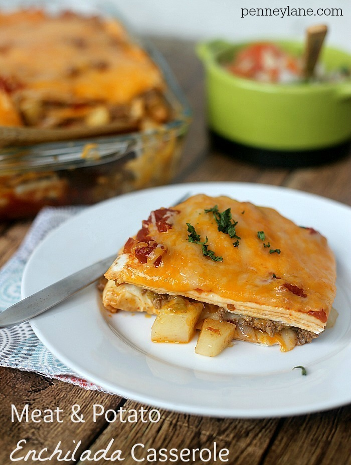 Simple Enchilada Casserole with Potatoes
