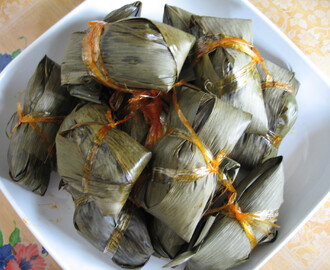 Bamboo Leaf Dumpling With Dried Shrimps Sambal 辣椒虾米粽子