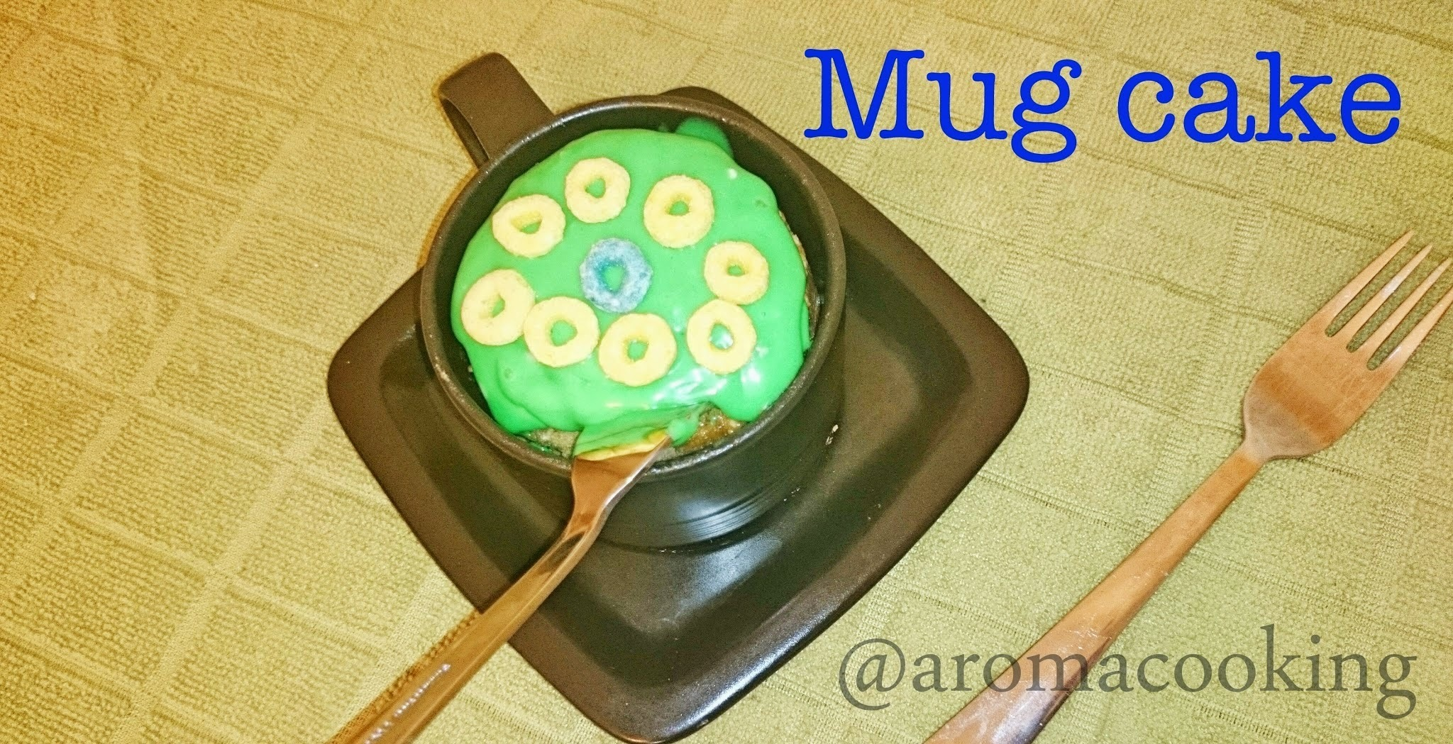 Microwave Mug Cake for St. Patrick's Day