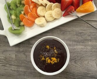 Dark Chocolate Orange Sea Salt Fondue