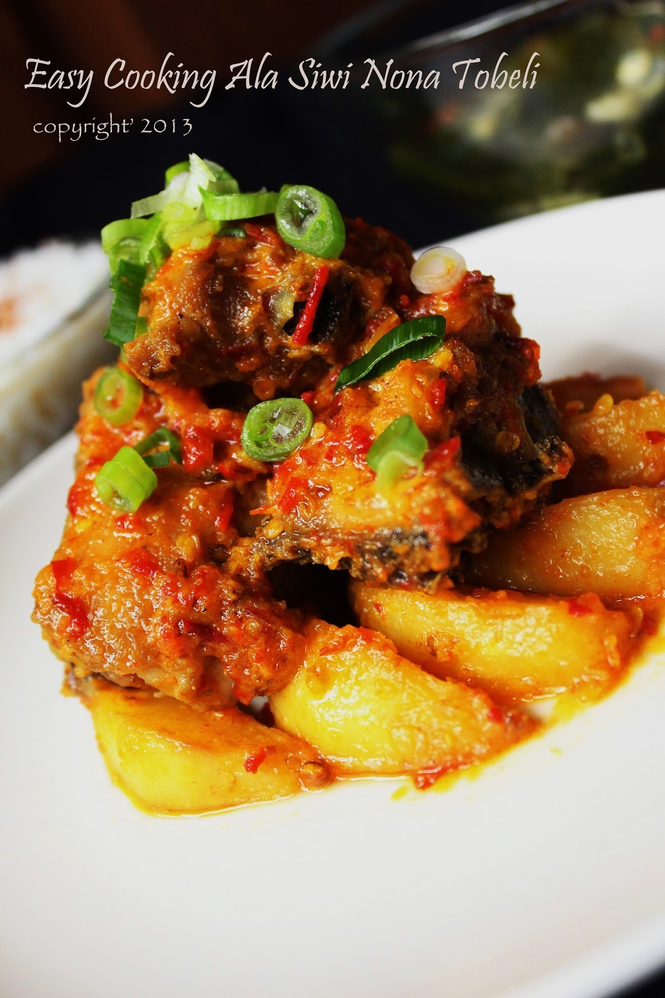 ayam bumbu rujak - chicken with fresh chili sauce