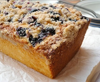 lemon blueberry crumb loaf