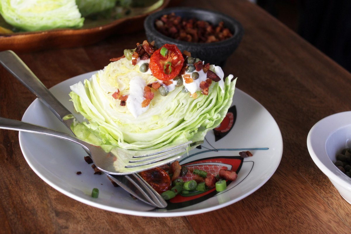 Wedge Salad + Homemade Blue Cheese Dressing