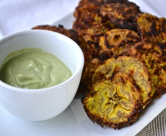 Baked Plantains (with Ginger Cilantro Crema)