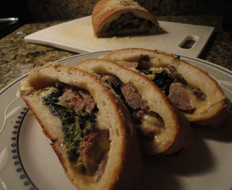 Broccoli Rabe and Sausage Bread