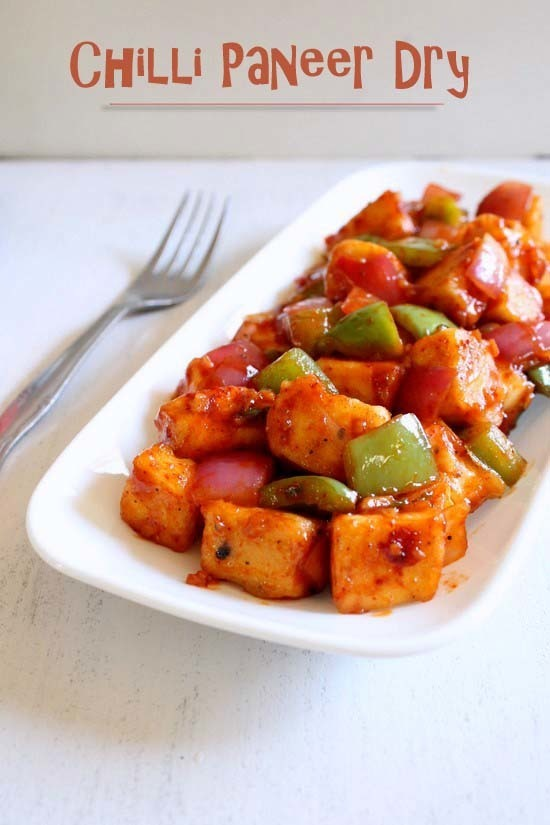 Chilli Paneer Dry Recipe | Indo-Chinese Paneer Chilli Recipe