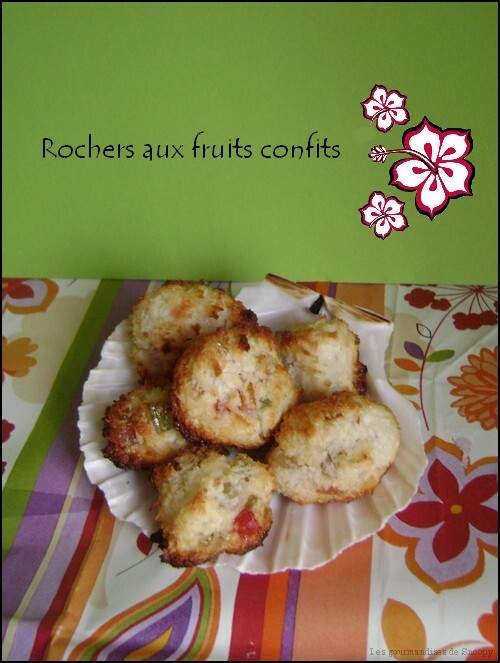 Rochers aux fruits confits