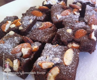 杏仁巧克力布朗尼~ Almond Chocolate Brownie