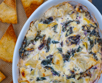 Cheesy kale-artichoke dip for the #52NewFoods Challenge!