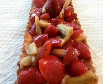 Tarte fraises rhubarbe (Strawberry rhubarb pie)