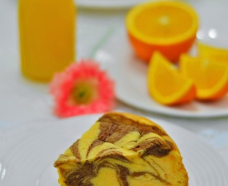 香橙大理石烤鸡蛋糕(饭锅版) Orange Marble Baked Egg Cake (Rice Cooker Version)