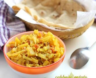 Aloo Cabbage Sabzi Recipe (Dry Potato Cabbage Sabji)