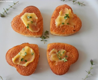 Financiers au thym citron et lime curd (Financial lemon thyme and lime curd)