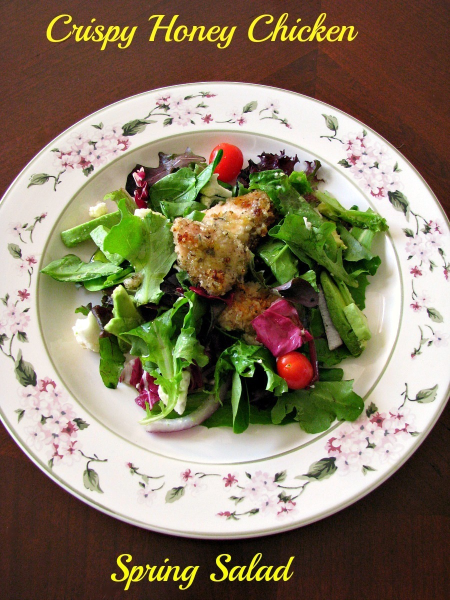 Crispy Honey Chicken Spring Salad for #SundaySupper
