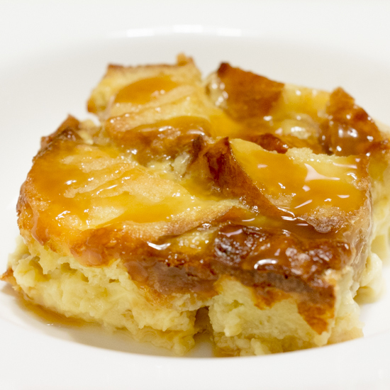 Pretzel Caramel Bread Pudding