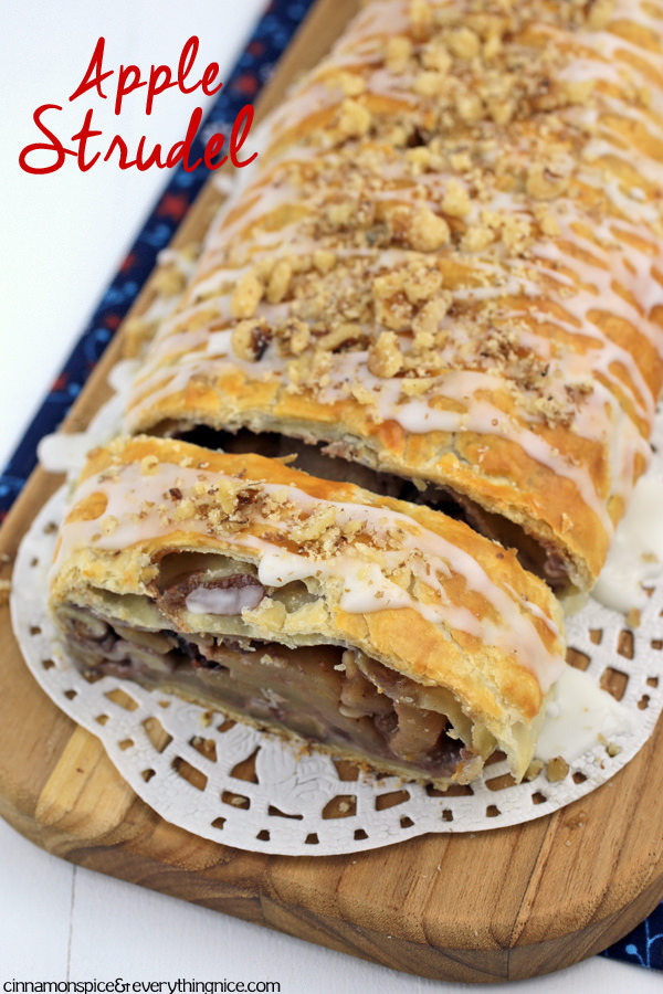 Easy Puff Pastry Apple Strudel
